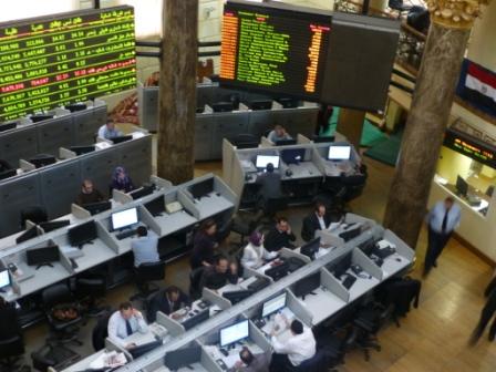 Trading floor of Egyptian Exchange - Dec 2012  pic: Tom Minney