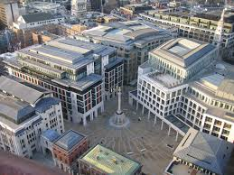 Paternoster Square with London Stock Exchange at right (credit: Wikipedia)