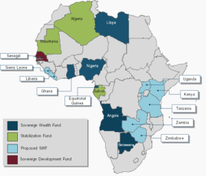 Existing and Emerging SWFs in Africa. Source: Sovereign Wealth Center